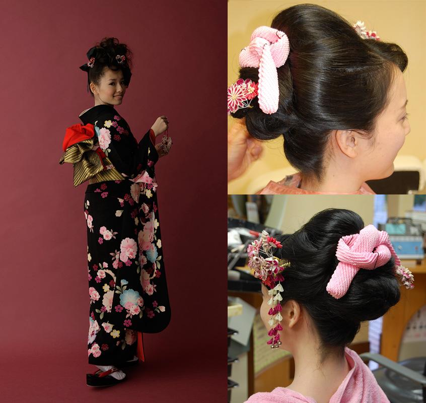 今治美容室成人式ヘアメイク着付け日本髪