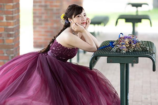 ドレスフォトプラン ドレス2点